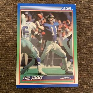 1990 Phil Simms Giants NFL card